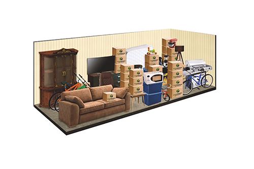 10x25 Storage Unit Dandk Organizer